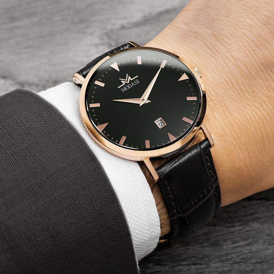 The Businessman Black & Rose Gold