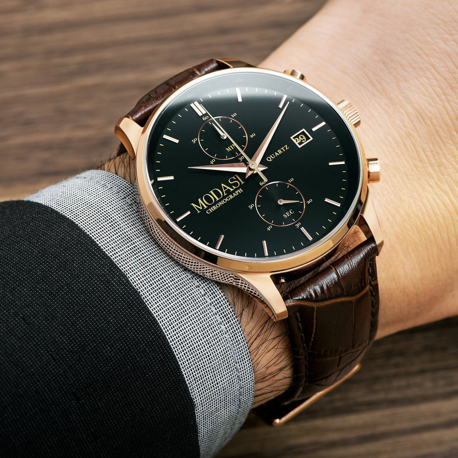 The Executive Brown & Rose Gold