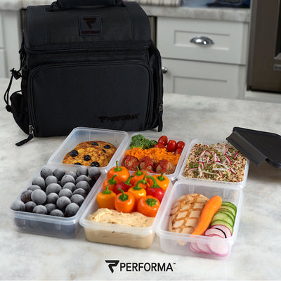 PERFORMA Meal Container (Black on Black), 24oz / 710ml / 3 Cups