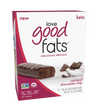 Love Good Fats - Coconut Chocolate Chip - High Fat Keto Snacks - Low Carb Keto Bars Perfect for Keto Diets - Gluten Free & Non GMO -  12 Bars