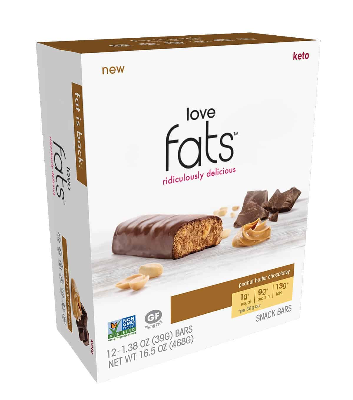 Love Fats™ - Peanut Butter Chocolatey <br><span class=red>#1 Best Seller!</span>(box of 12)