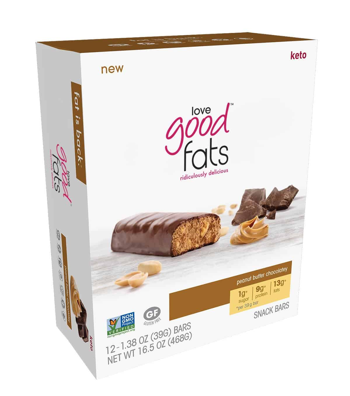 Love Good™ Fats - Peanut Butter Chocolatey <br><span class=red>#1 Best Seller!</span>(box of 12)