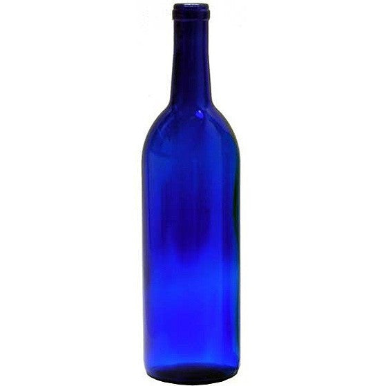 750 ml Bordeaux Bottles - Cobalt 12 pack
