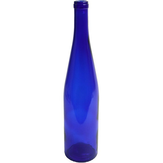 750 ml Stretch Hock Bottles - Cobalt 12 pack