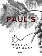 Artistic Grapevine Monotone Custom Wine Label