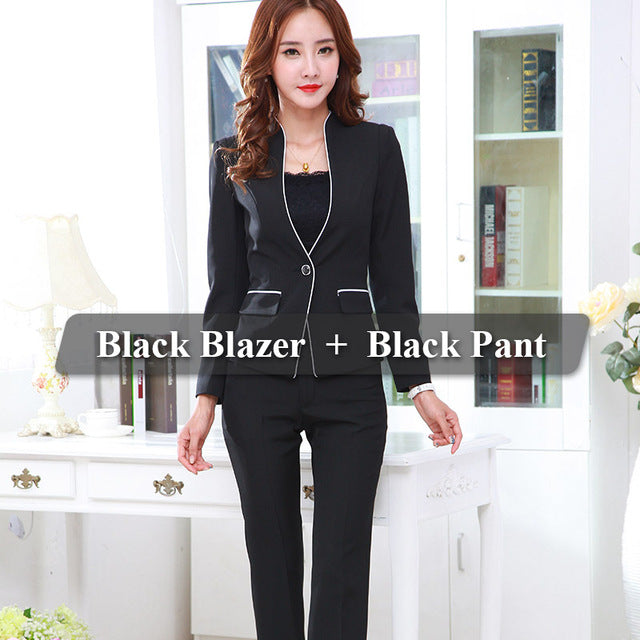 Office Lady Work Wear Elegant Business Uniform Style Jack with Trouser - RomeX NewYork