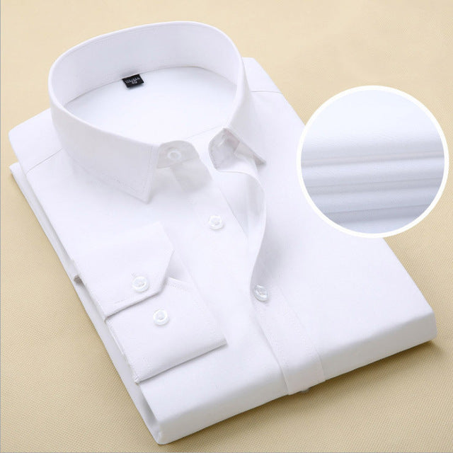2018 Mens Slim Fit Long Sleeve High Quality Dress Shirt