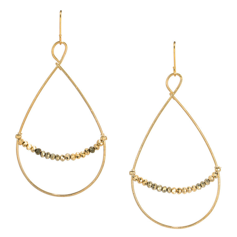 Tear Drop Golden Gate Earrings