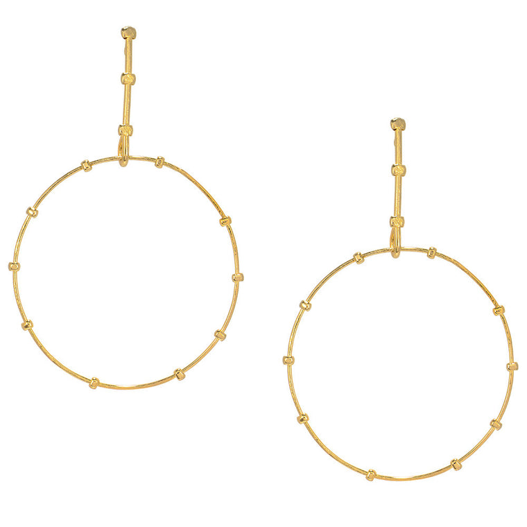 Stick and Circle Studs Earrings