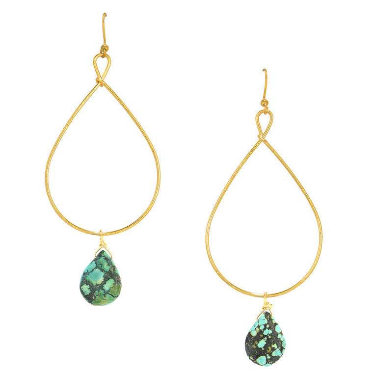 Tear Drop Gem Earrings