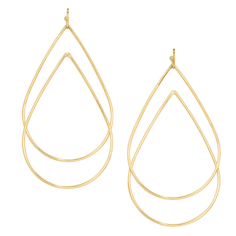 Layered Tear Drop Earrings