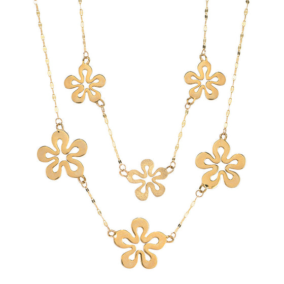 Flower Two Strand Necklace