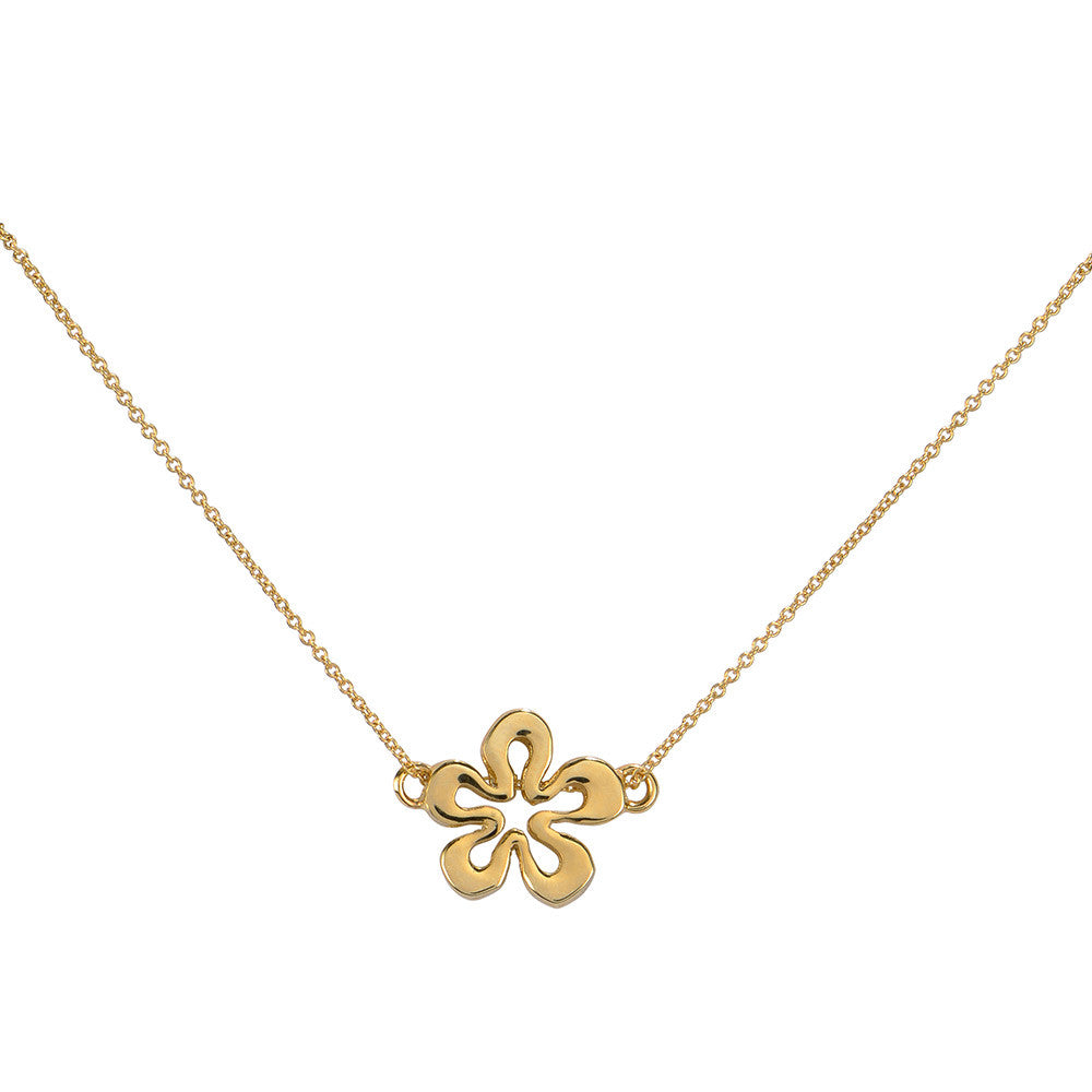 gold mixed filigree rose flower metal necklace res hi rickis rhodium