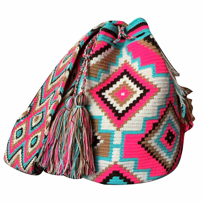 Licorice Wayuu Mochila Bag