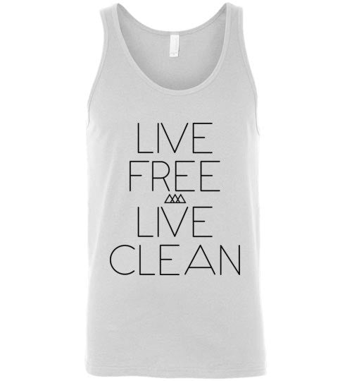 Live Free Live Clean Unisex Tank