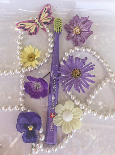 Curaprox Smart Toothbrush Pearls, Pure Purple and Chartreuse Yellow