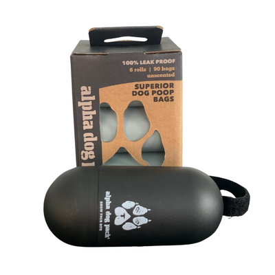 105 EPI Dog Poop Bags + Dispenser - Alpha Dog Pack