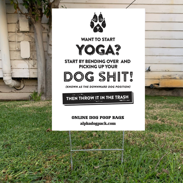 Special Edition - Yoga Yard Sign