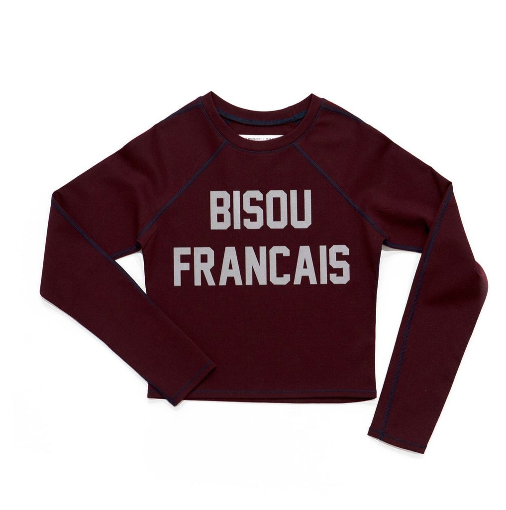 bisou francais - LONG SLEEVE CROP