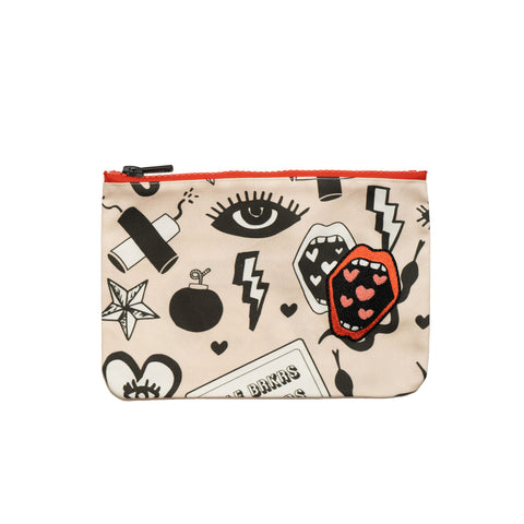LOVE AUTHORITY denim clutch