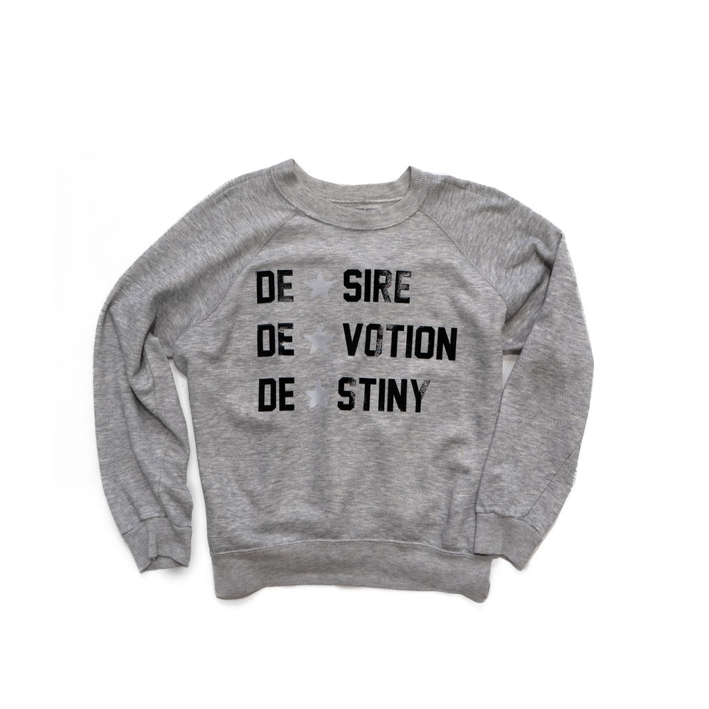 vintage sweatshirt - DESIRE DEVOTION DESTINY