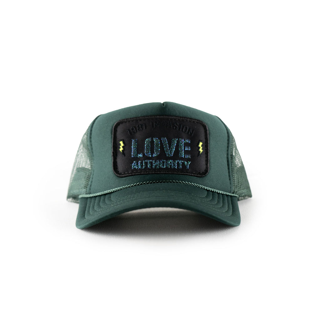 LOVE AUTHORITY mesh trucker