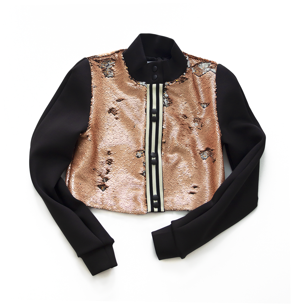 ELECTRIC EYE sequin bomber