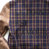 LE POINT EST L'AMOUR plaid bomber