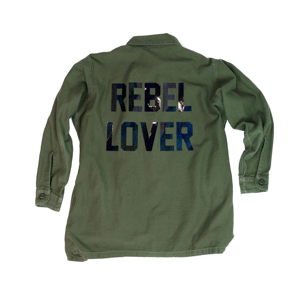 vintage solid army - REBEL LOVER