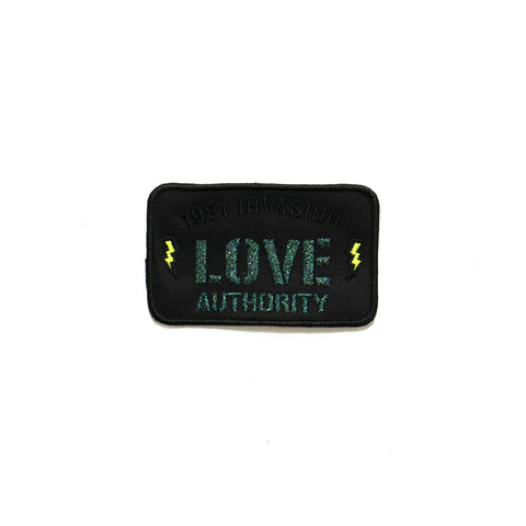 the LOVE AUTHORITY patch