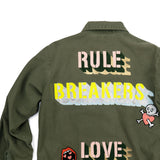 RULE BRKR LOVE MKR used paint co. vintage jacket