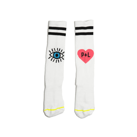 the HEART + EYE socks