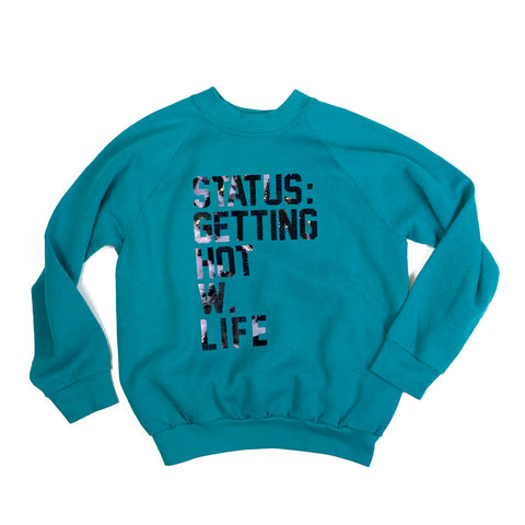 vintage sweatshirt - getting HOT w. LIFE