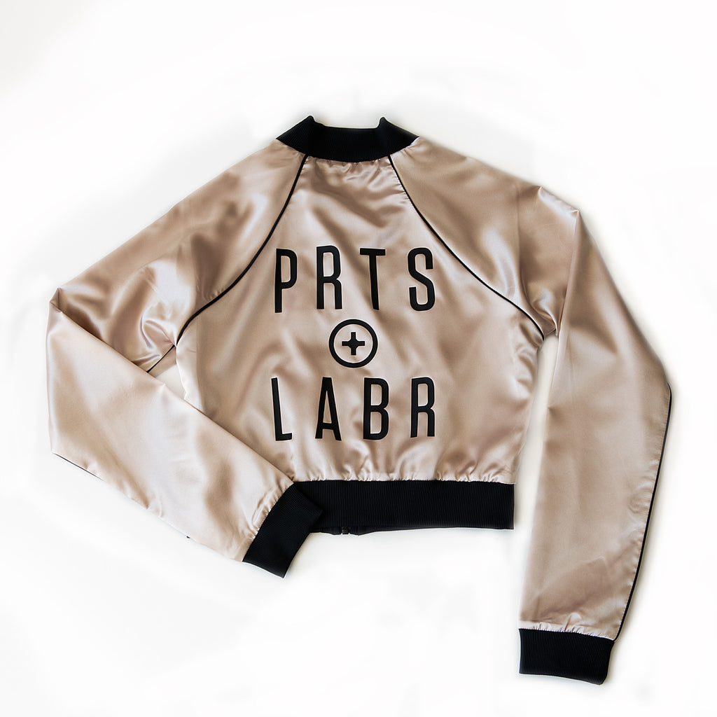 parts + labor fan girl - CROPPED BOMBER