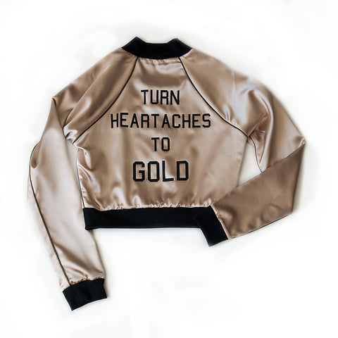 heartaches to gold - CROPPED BOMBER