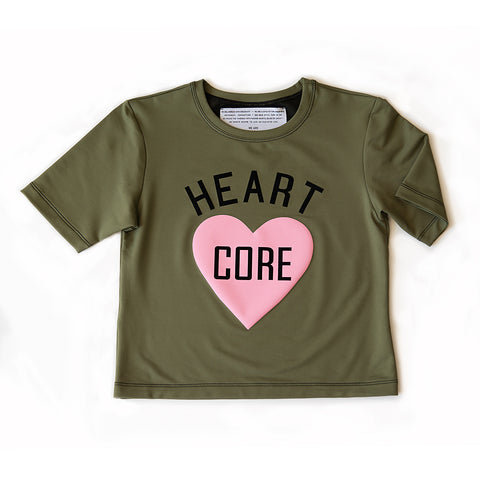 HEART CORE TO THE [TOP] crop tee
