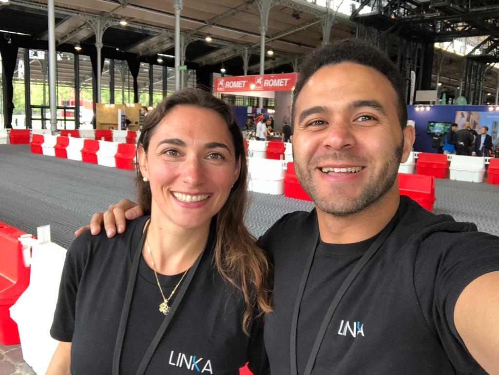 CEO of LINKA Mo with Sales Director Sophie