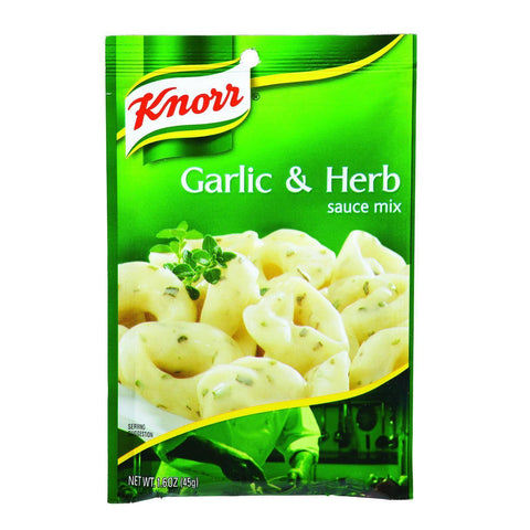 Knorr Sauce Mix - Garlic And Herb - 1.6 Oz - Case Of 12