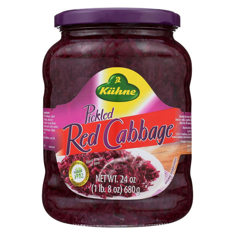 Kuhne Cabbage - Red - Case Of 12 - 24 Oz