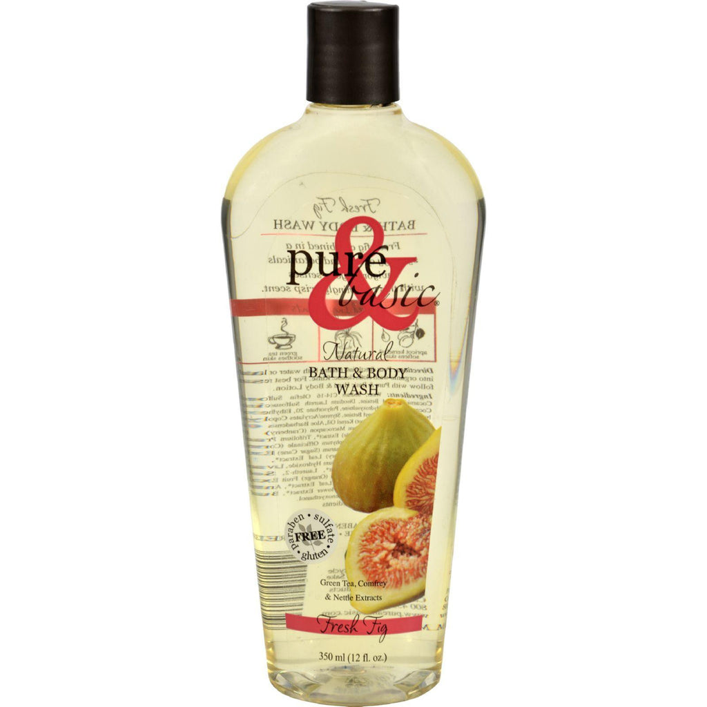 Pure And Basic Natural Bath And Body Wash Fresh Fig - 12 Fl Oz