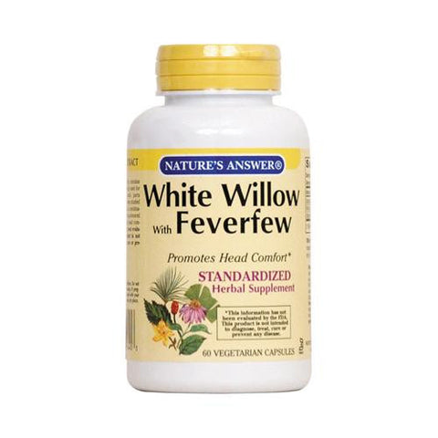 Nature's Answer White Willow With Feverfew - 60 Vcaps