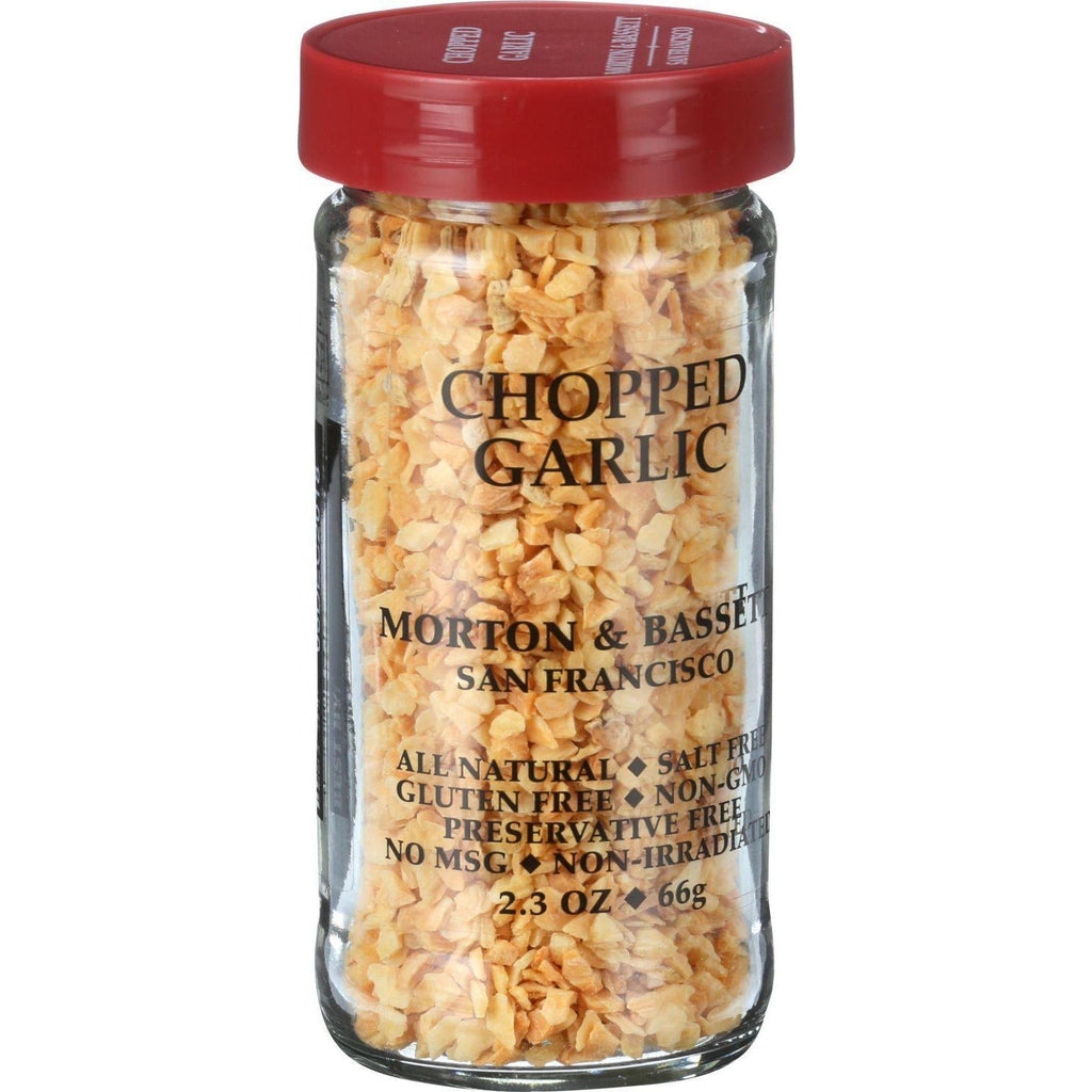 Morton And Bassett Garlic Chopped - Garlic - Case Of 3 - 2.3 Oz.