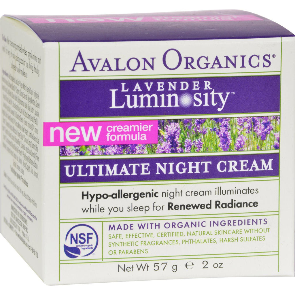 Avalon Organics Ultimate Night Cream Lavender Luminosity - 2 Oz