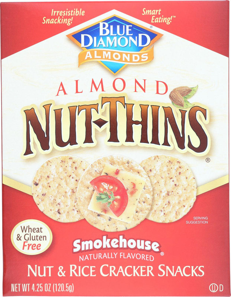 Blue Diamond Nut Thins - Smokehouse - Case Of 12 - 4.25 Oz.