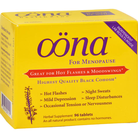 Oona Menopause Herbal Supplement - 96 Tablets
