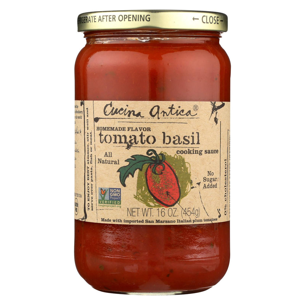 Cucina Antica Tomato Basil Cooking Sauce - Case Of 12 - 16 Fl Oz.