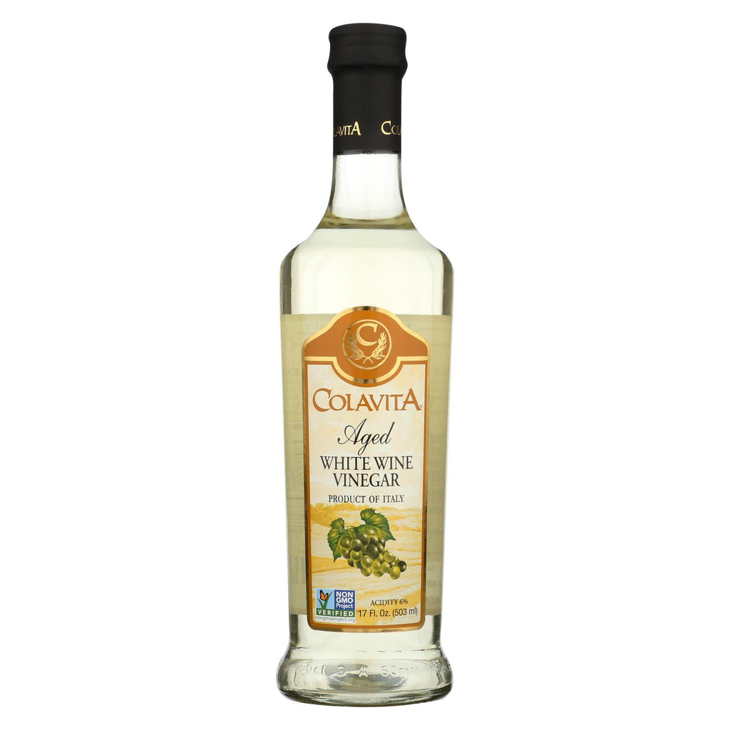 Colavita Aged White Wine Vinegar - Case Of 12 - 17 Fl Oz.