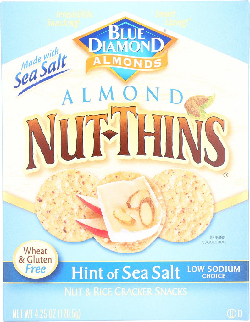 Blue Diamond Nut Thins - Sea Salt - Case Of 12 - 4.25 Oz.