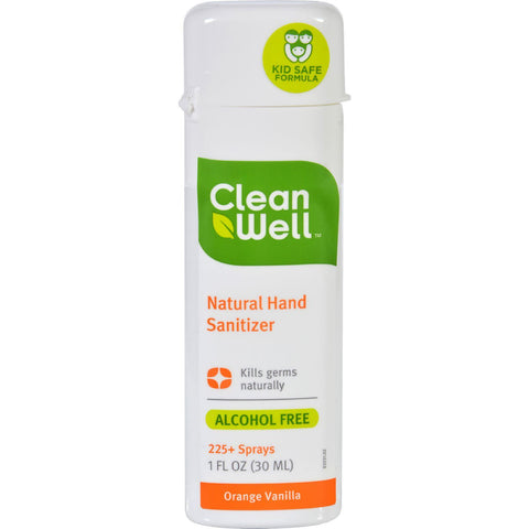 Cleanwell Hand Sanitizer Display - Orange - Case Of 24 - 1 Oz