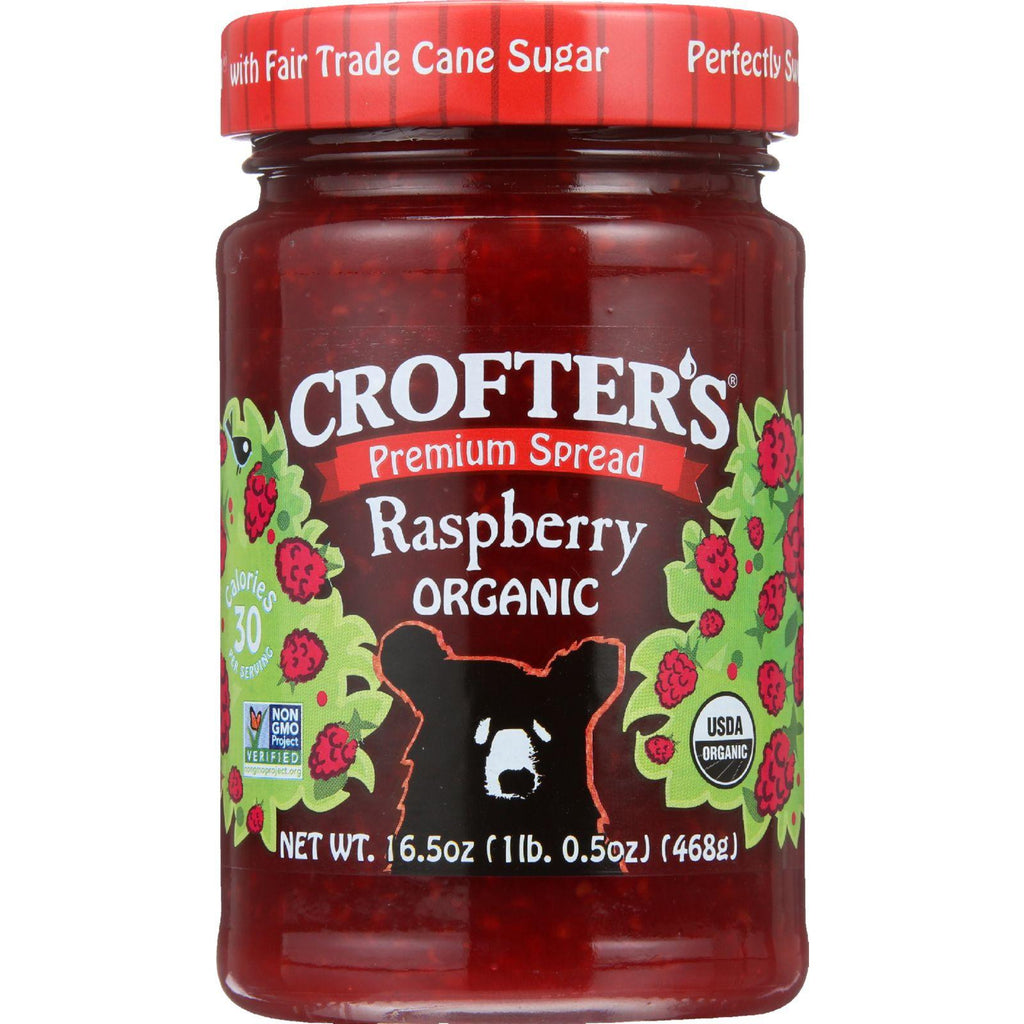 Crofters Fruit Spread - Organic - Premium - Raspberry - 16.5 Oz - Case Of 6